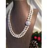 Collana composta da due fili di perle di fiume