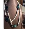Collana composta da perle di fiume naturali bianche