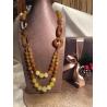 Collana composta da agata gialla naturale