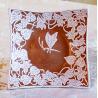 Ciotola quadrata farfalla cm 18x18 Cod 28