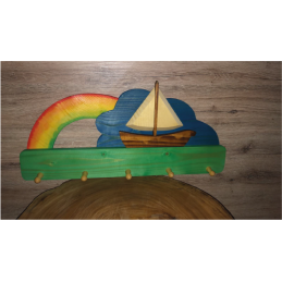 Appendi panni in legno Barca