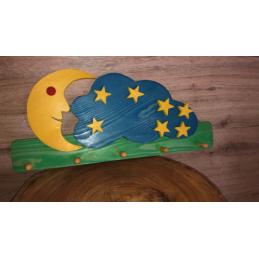 Appendi panni in legno Luna