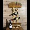 Cantinetta vino da parete con incavo per 4 bicchieri e supporto per 3 bottiglie