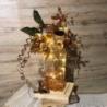 Vaso con supporto in legno con luci incorporate pezzo unico