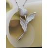 Ciondolo in argento con zirconi abbinata alla collana