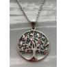 Cindolo in argento e zirconi colorati, coordinato con catena in argento
