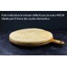 Base per Focaccia classica Surgelata 40X30 cm 550 g (Prodotto riservato a residenti nel comune di Viadana e limitrofi )