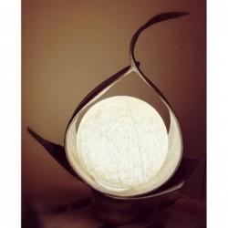 Lampada con foglia di cocco...