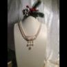 Collana composta da due fili di perle di fiume naturali