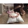 Bracciale composto da sassi di quarzo rosa